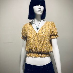One Clothing • Crop Top with Flower Pattern